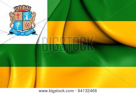 Flag Of The Aracaju, Brazil.