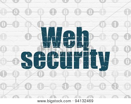 Security concept: Web Security on wall background