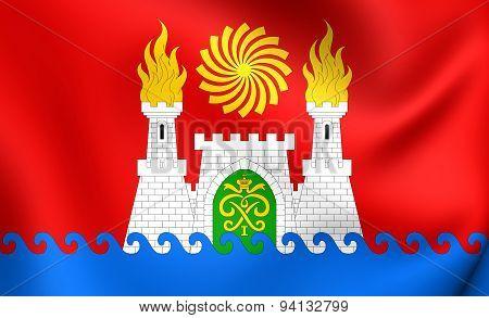 Flag Of The Makhachkala, Russia.