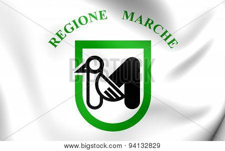 Flag Of The Marche, Italy.