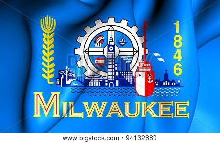 Flag Of The Milwaukee, Usa.