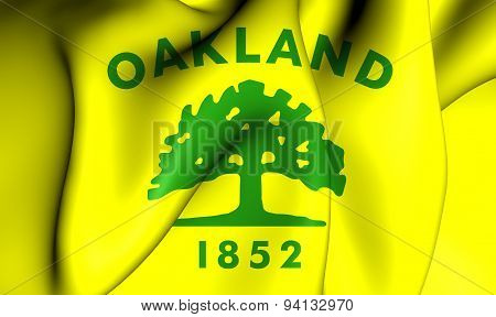 Flag Of The Oakland, Usa.