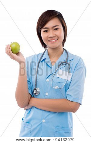 Intern With Green Apple