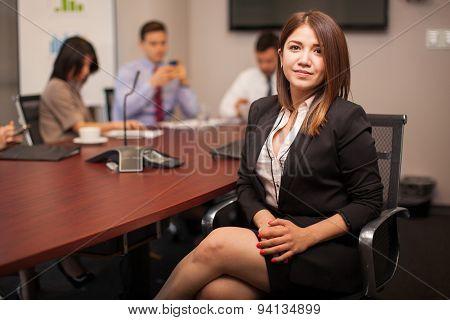 Pretty Female Lawyer At Work
