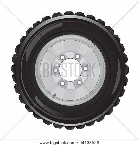 Wheel of the car