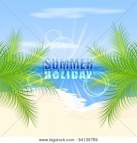 Summer Holiday On The Beach, Vector Illustration.