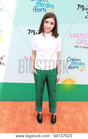 LOS ANGELES - JUN 14:  Rowan Blanchard at the Children Mending Heart's 7th Annual Empathy Rocks Fundraiser at the Private Location on June 14, 2015 in Malibu, CA