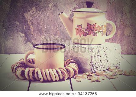 Tea In Rustic Russian Style (retro)