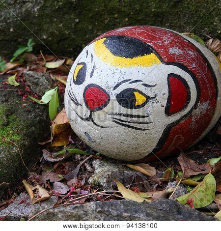 Stone Cat In Onomichi