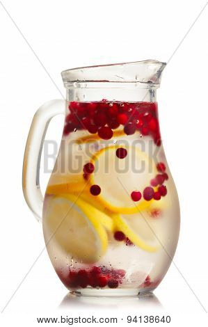 Cranberry Lemon Iced Detox Water