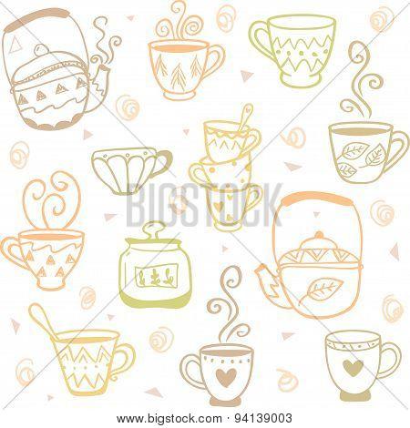 mugs kettles pattern