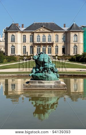 PARIS, FRANCE - SEPTEMBER 12, 2014: Rodin Museum in Paris. France.