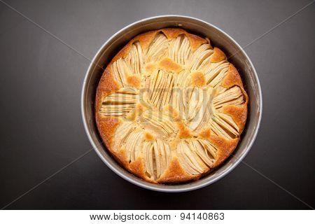 German Sunken Apple Cake