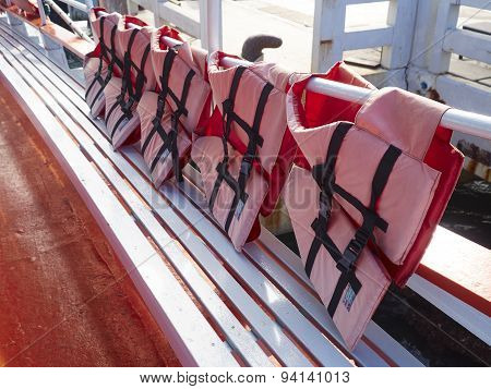 Red Life Jackets