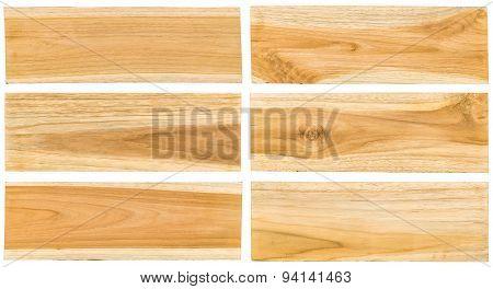 Teak Wood Plank Surface