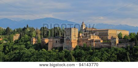 View of Alhambra and Granada, Spain