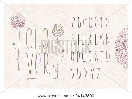Clover Flower Alphabet