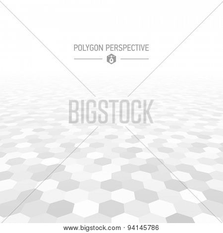Polygon shapes perspective background vector illustration