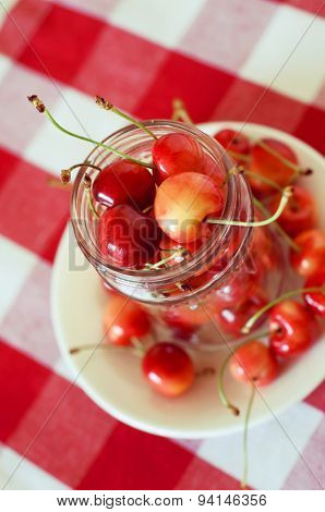 Summer Treats.rainier Cherries.