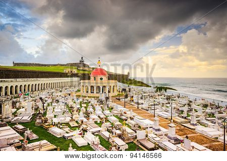 San Juan, Puerto Rico historic cemetery at Fort San Felipe Del Morro.