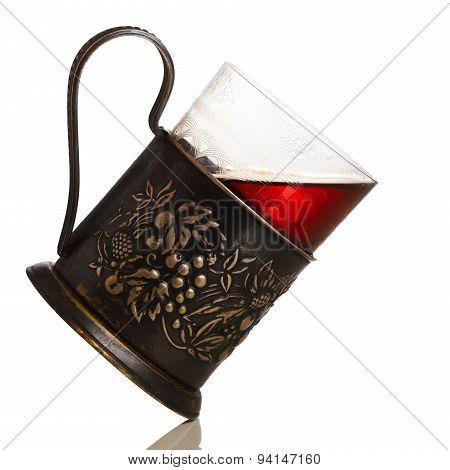 Tea In Glass-holder