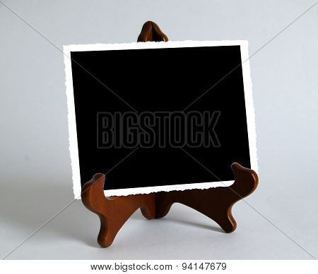 Wooden Stand With Photo Paper Card