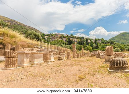 collonade of gymnasium in Ancient Messina