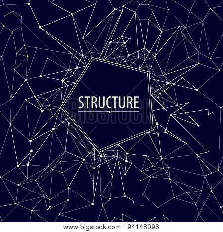 Abstract structure.Vector illustration.Seamless pattern. Starry sky