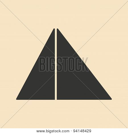 Flat in black and white mobile application pyramids Egypt
