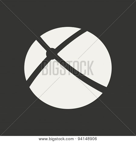 Flat in black and white mobile application orbital