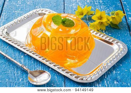 Fragrant Orange Jelly, Mint And Flowers Loosestrife