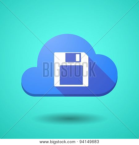 Cloud Icon With A Floppy Disk