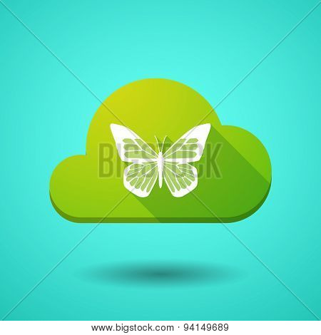 Cloud Icon With A Butterfly