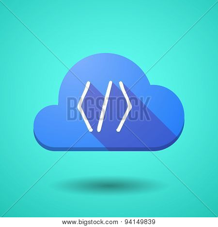 Cloud Icon With A Code Sign