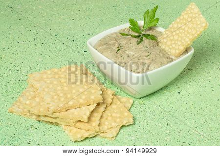 Delicate Sardine Pate And Crispy Waffle Bread