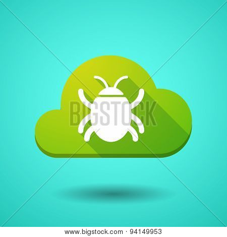 Cloud Icon With A Bug
