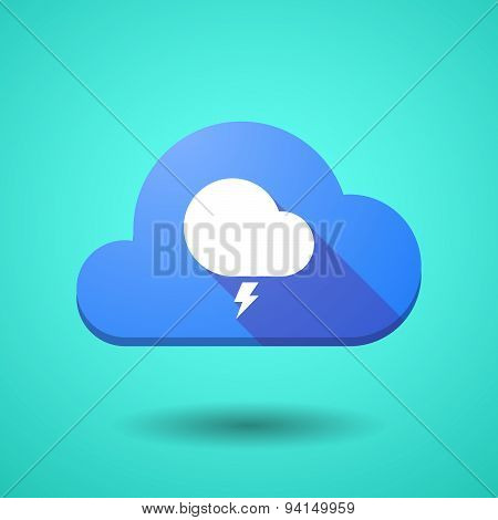 Cloud Icon With A Stormy Cloud