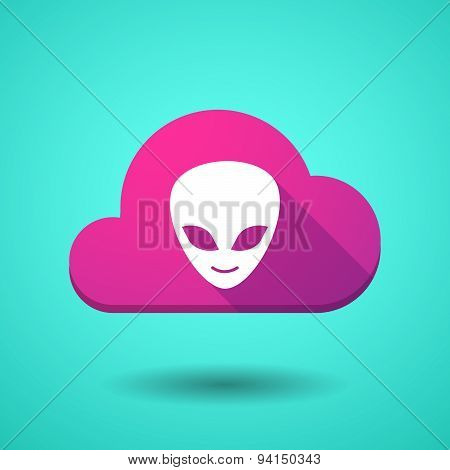 Cloud Icon With An Alien Face
