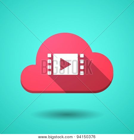 Cloud Icon With A Multimedia Sign