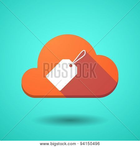 Cloud Icon With A Label