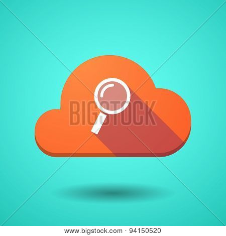 Cloud Icon With A Magnifier