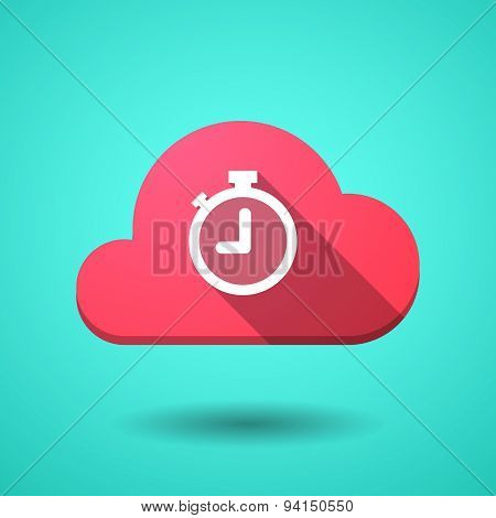 Cloud Icon With A Timer