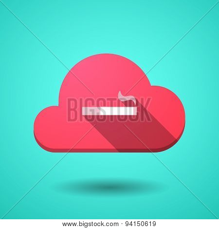 Cloud Icon With A Cigarette
