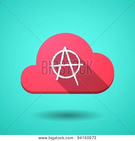 Cloud Icon With An Anarchy Sign