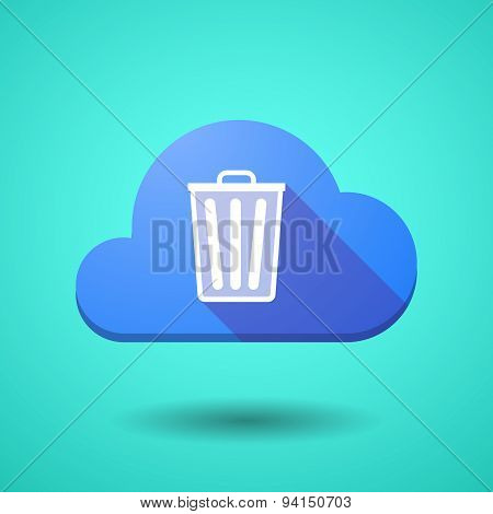Cloud Icon With A Trash Can