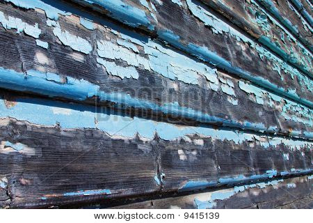 Weatherboards With Flaking Paint