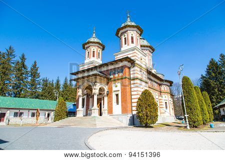 The church at Sinaia Monastery, Romania