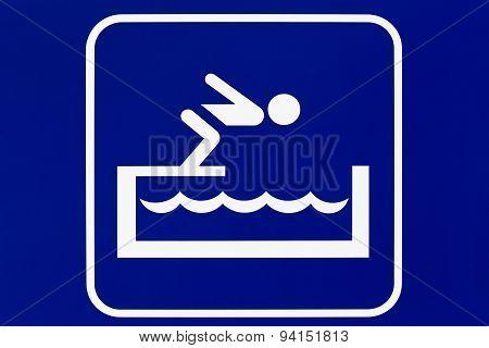 Swimming pool pictogram