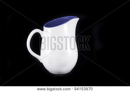 White And Blue Water Jug