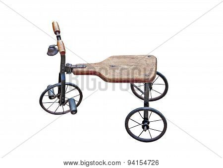 old worn tricycle